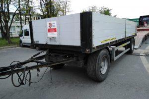 Przyczepa towarowa budowlana 12400 kg