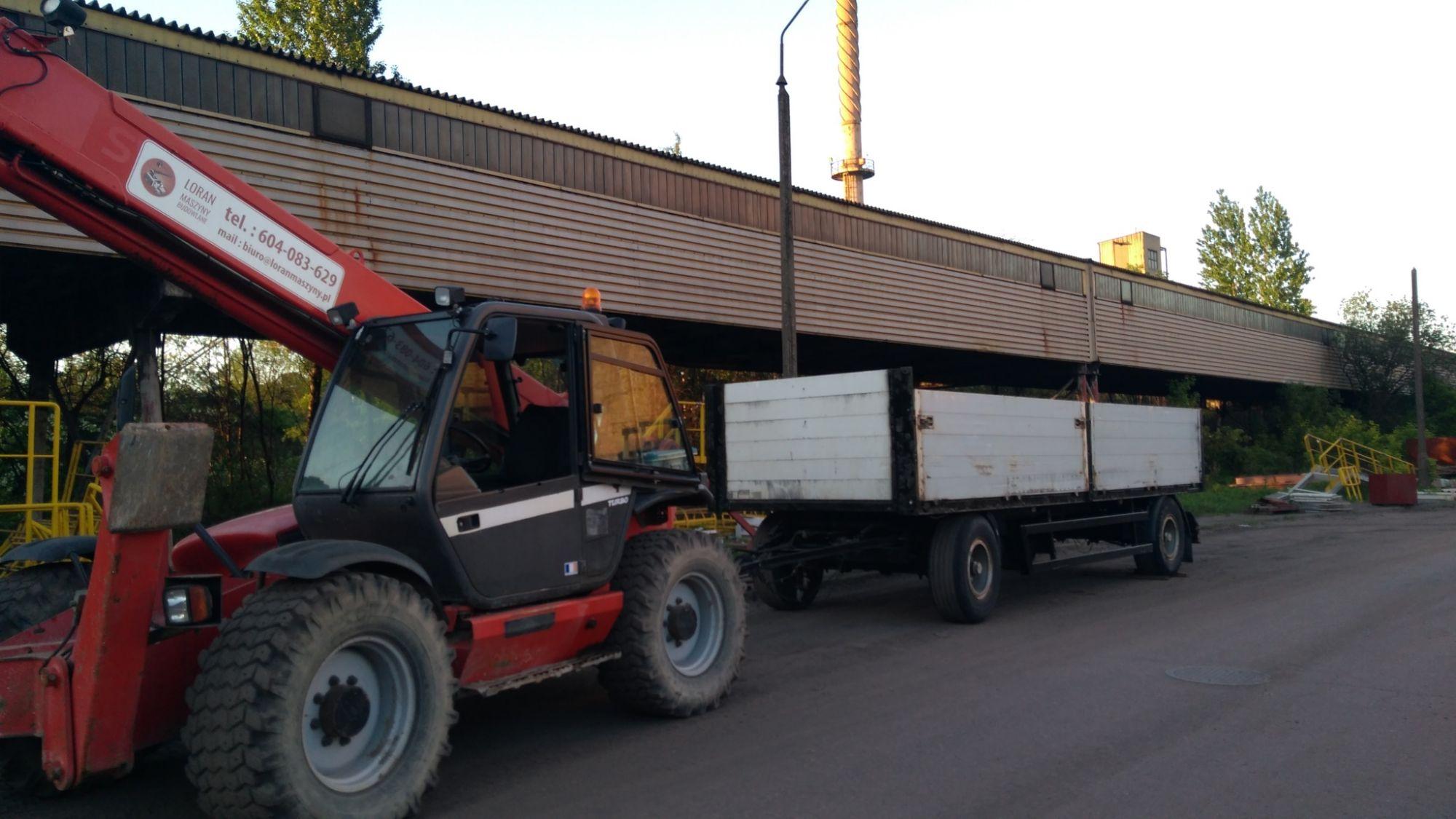 Przyczepa towarowa budowlana ładowność 14100 kg